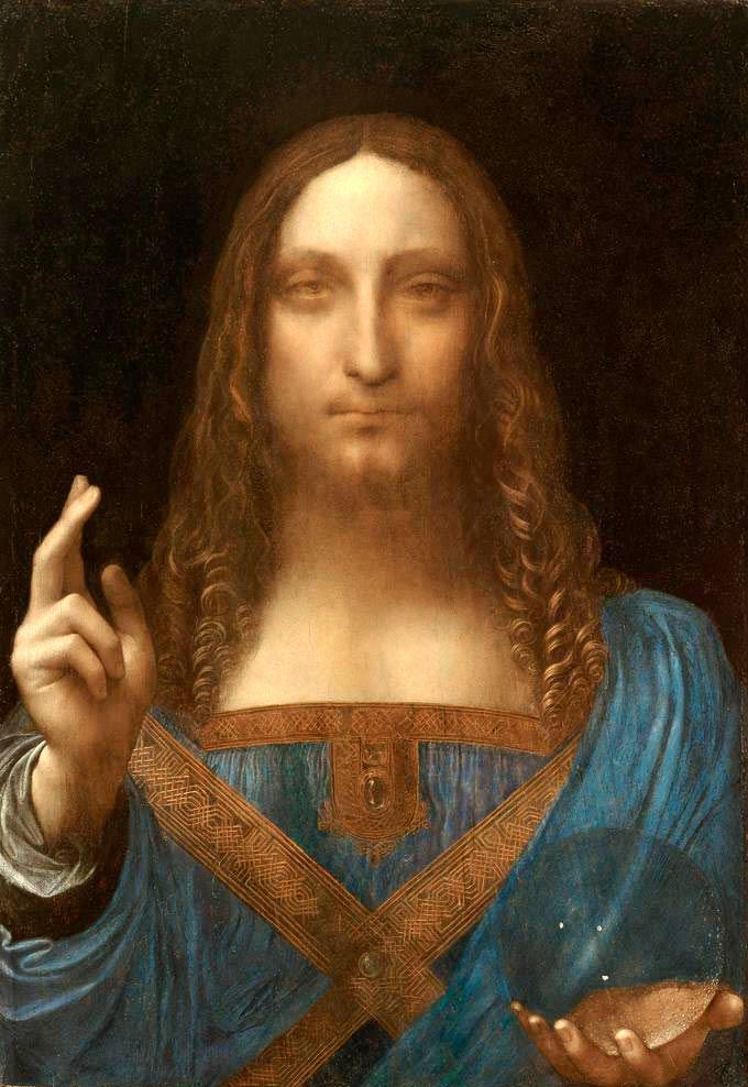 'Salvatori Mundi', atribuida a Leonardo Da Vinci.