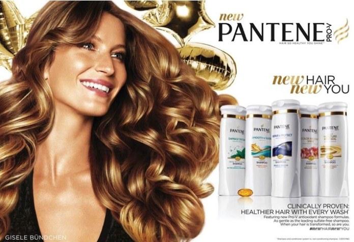 100 anuncios publicitarios con eslogan: Mejores slogans. Shampoo Pantene: Nuevo cabello, nueva tú.