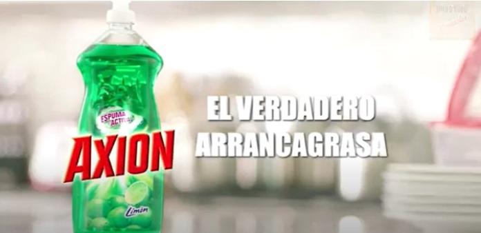 100 anuncios publicitarios con eslogan: Mejores slogans. Lavaplatos Axion: El verdadero arrancagrasa.