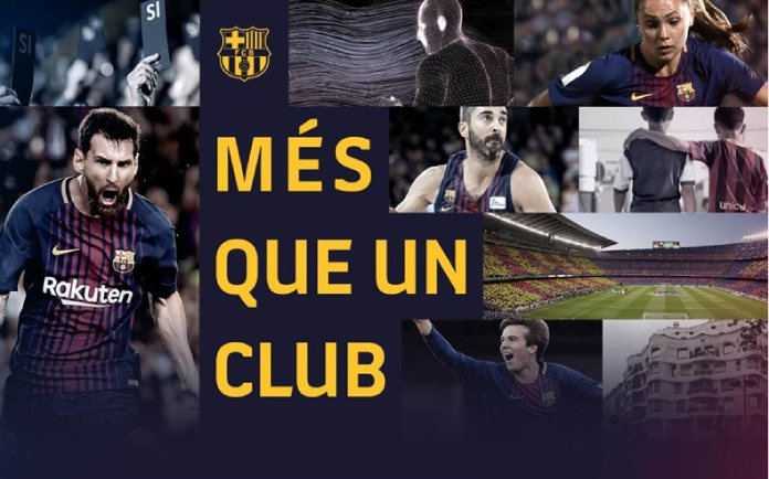 100 anuncios publicitarios con eslogan: Mejores slogans. Barça:  más que un club.
