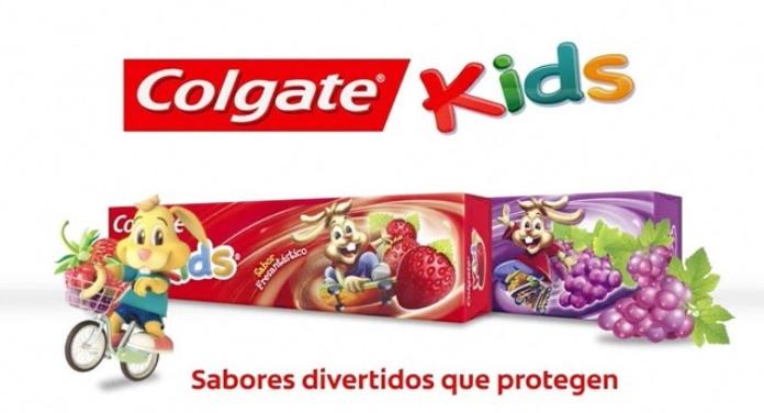 100 anuncios publicitarios con eslogan: Mejores slogans. Crema dental Colgate Kids: Sabores divertidos que protegen.