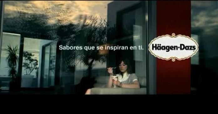 100 anuncios publicitarios con eslogan: Mejores slogans. Helados Haagen-Dazs: Sabores que e inspiran en ti.