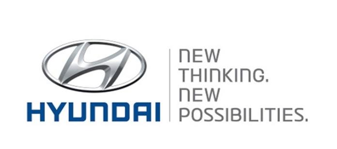 100 anuncios publicitarios con eslogan: Mejores slogans. Hyundai: Nuevo pensamiento. Nuevas Posibilidades.