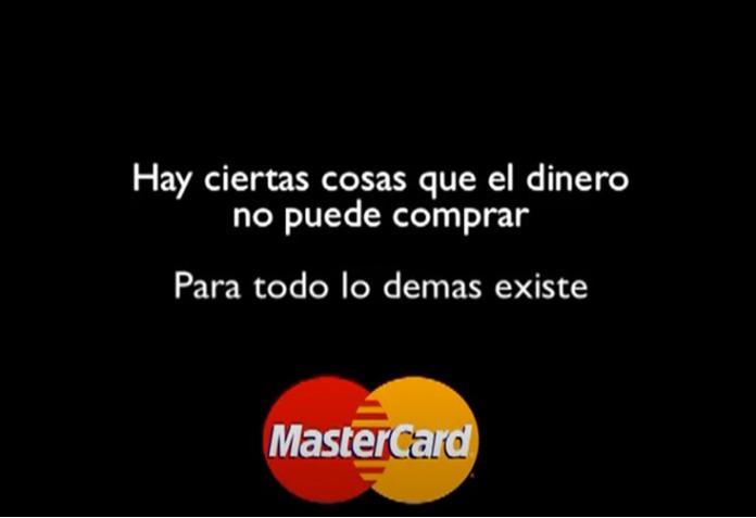 100 anuncios publicitarios con eslogan: Mejores slogans. MasterCard: Hay ciertas cosas que el dinero no puede comprar. Para todo lo demás existe MasterCard.