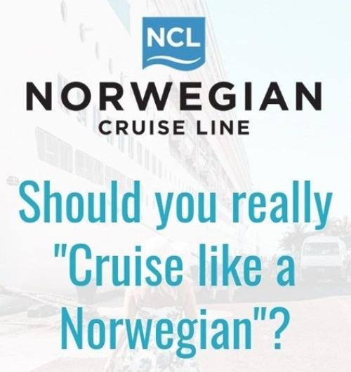 100 anuncios publicitarios con eslogan: Mejores slogans. Norwegian Cruise Line: Haz un crucero como un noruego.