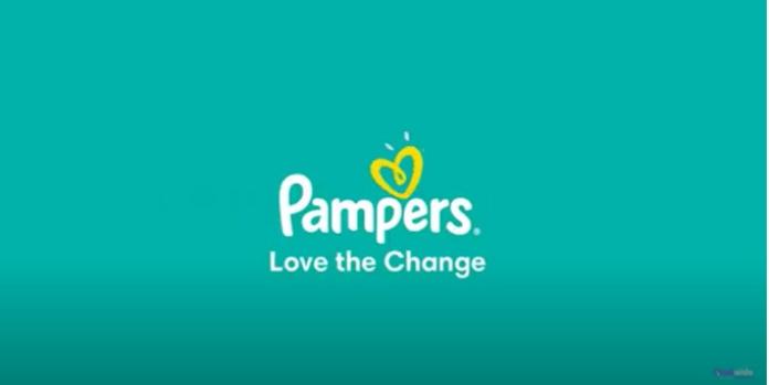 100 anuncios publicitarios con eslogan: Mejores slogans. Pañales Pampers: Ama el cambio.