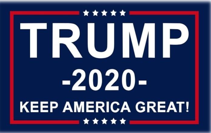 100 anuncios publicitarios con eslogan: Mejores slogans. Trump 2020: Mantén a América grande.