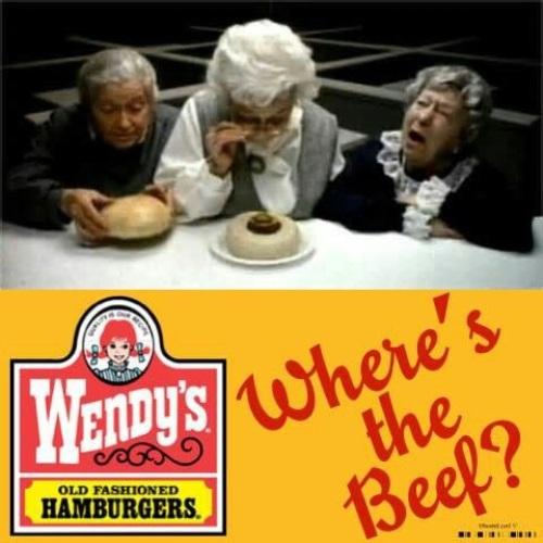 100 anuncios publicitarios con eslogan: Mejores slogans. Wendy´s: ¿Dónde está la carne?