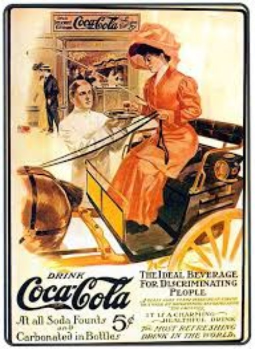 100 anuncios publicitarios con eslogan: Mejores slogans. Coca-Cola: la bebida ideal para personas distinguidas.