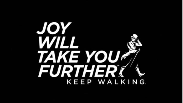 100 anuncios publicitarios con eslogan: Mejores slogans. Whisky Johnnie Walker: la alegría te llevará más lejos.