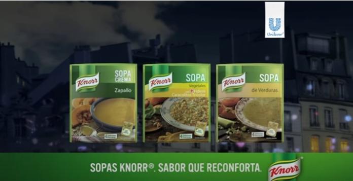 100 anuncios publicitarios con eslogan: Mejores slogans. Sopas Knorr: Sabor que reconforta.