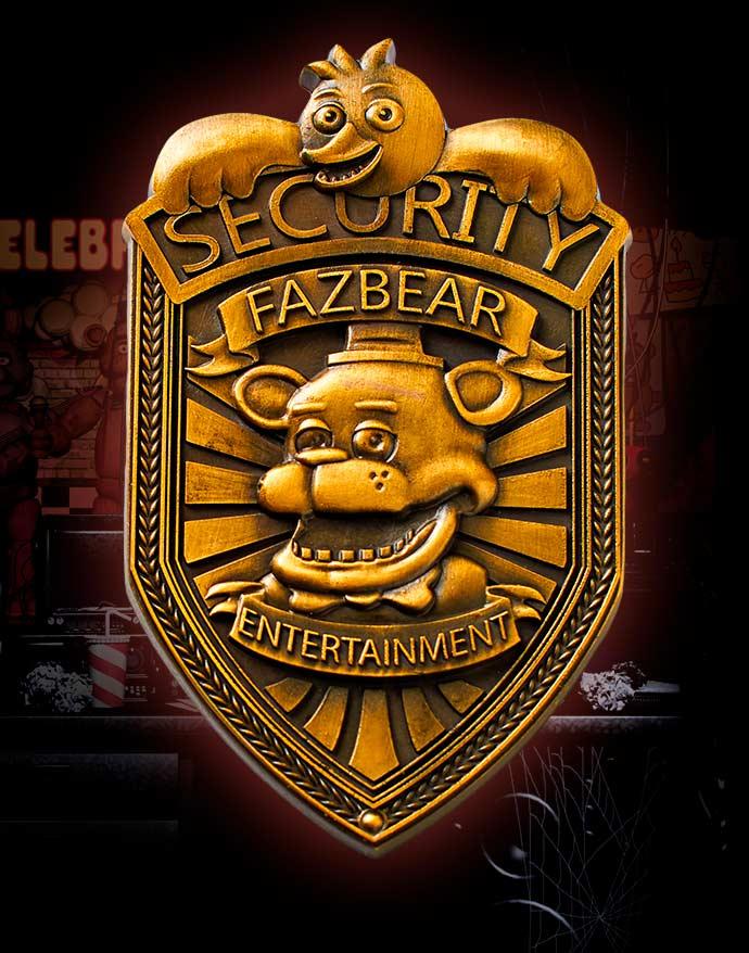 Placa de seguridad de Freddy Fazbear