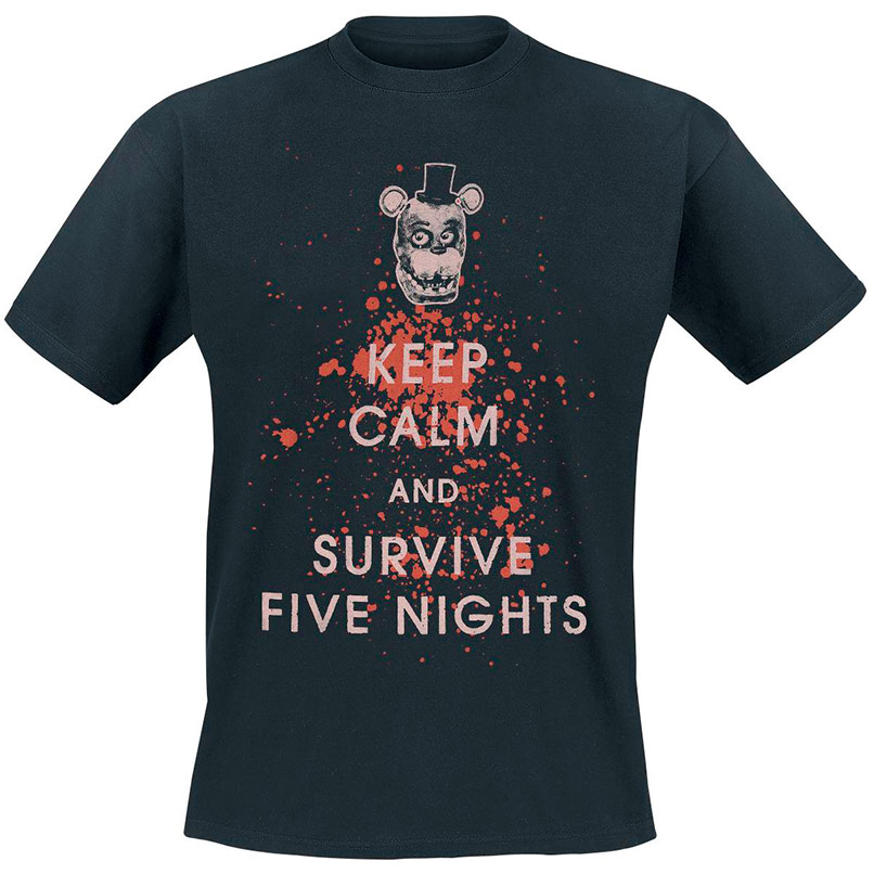 "Camiseta ""Keep calm and survive Five Nights"""