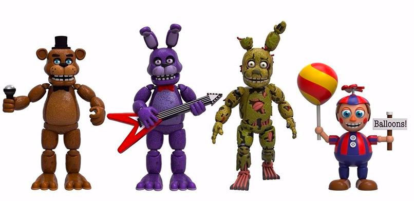 Figuras de acción de los personajes principales