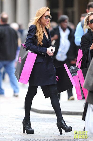 Adicta a las compras: Lindsay Lohan