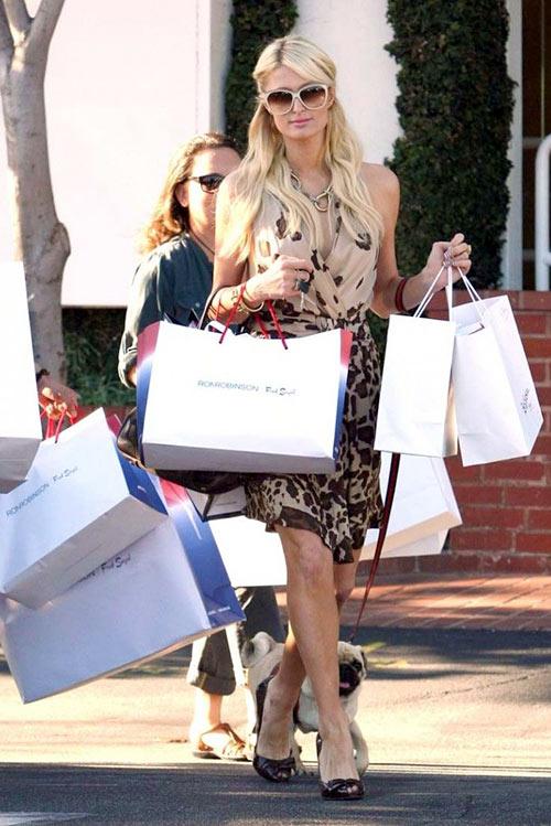 Adicta a las compras: Paris Hilton