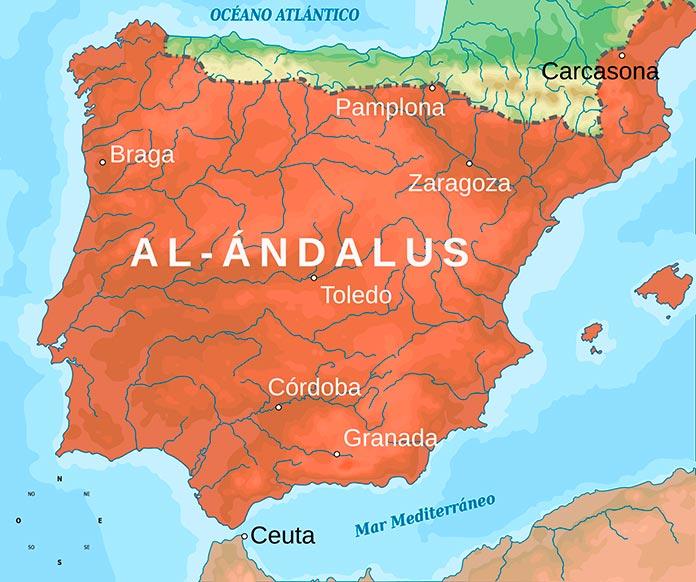 Al-Ándalus en 732