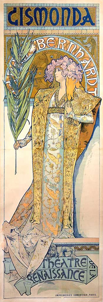 Alfons Mucha - cartel litográfico Sarah Bernhardt
