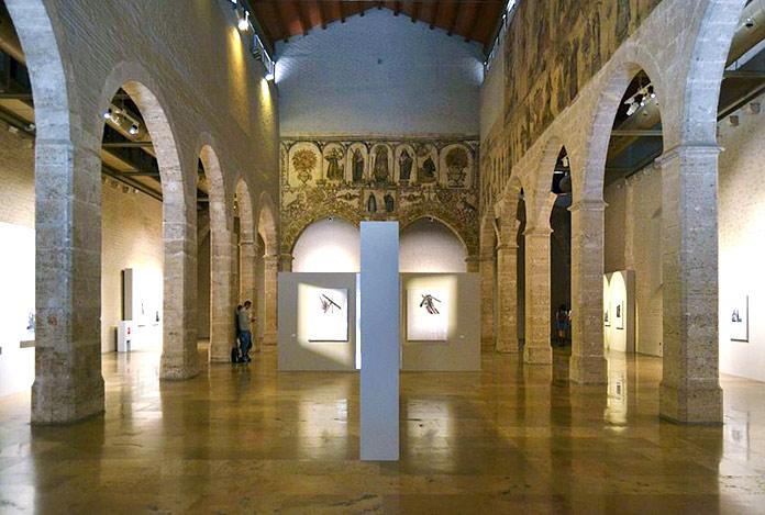 Arcos del interior del Almudín de Valencia