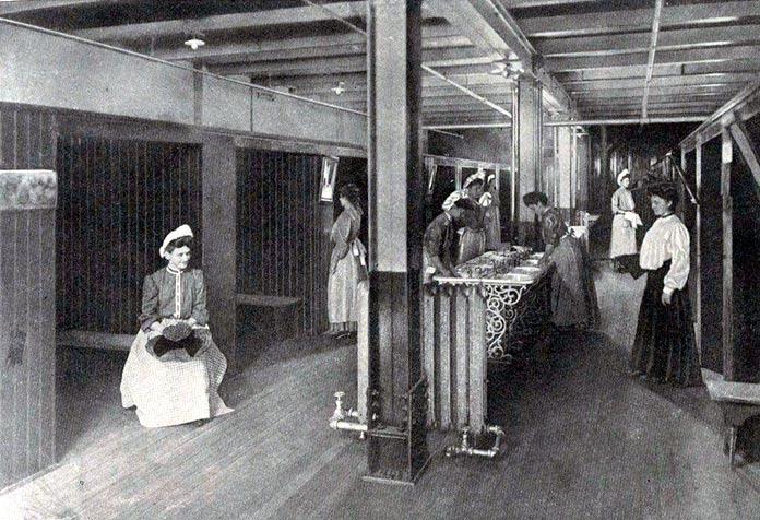 Aseo de mujeres de una fábrica de Pittsburgh