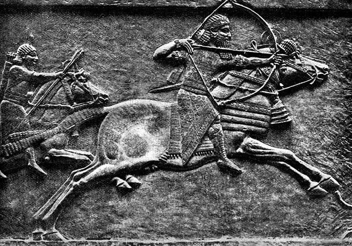 Relieve de Asurbanipal cazando