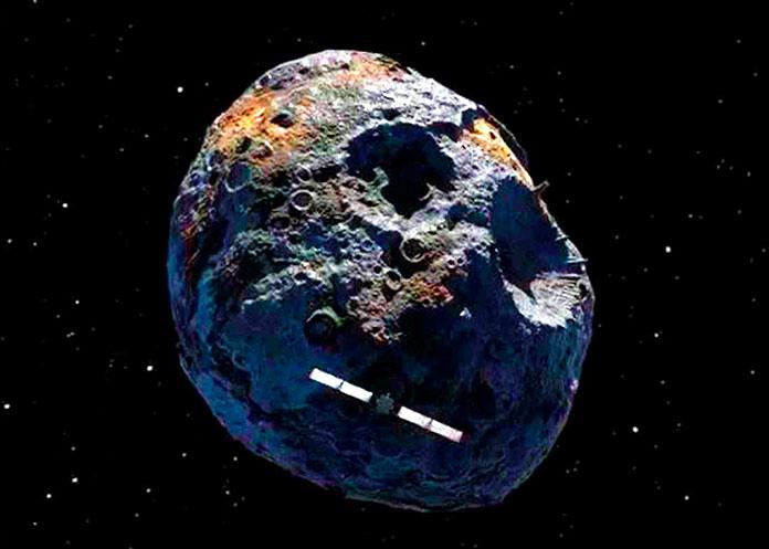 Ilustración del asteroide Psyche