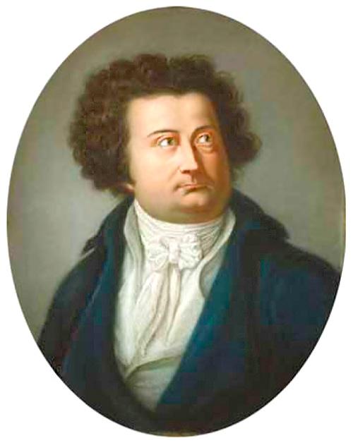 Retrato de August Iffland por Johann Heinrich Schröder