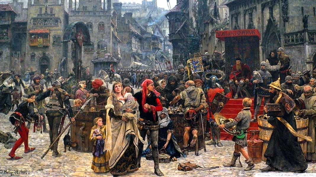 Las diferentes ayudas sociales en la alta Edad Media