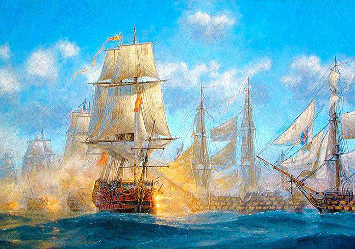 Combates navales. La batalla de Trafalgar
