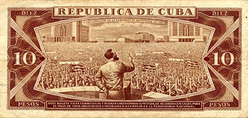 Billete de 10 pesos cubano con la foto de Raúl Corrales