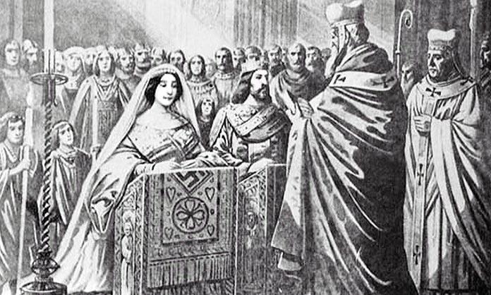 Boda de Alfonso III con Jimena Garcés
