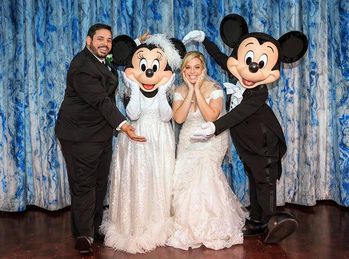 Boda Disney con personajes animados