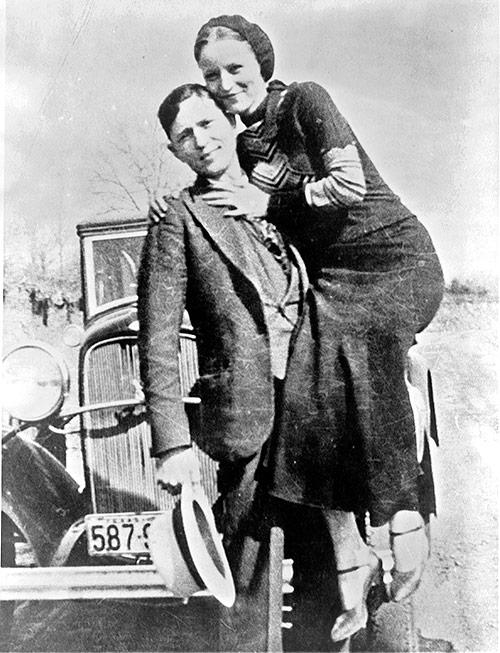 Fotografía real de Bonnie Parker y Clyde Barrow