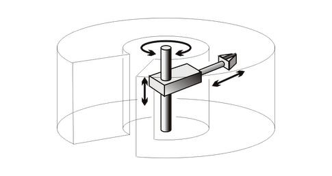 Brazos mecánicos - Brazo robótico cilíndrico