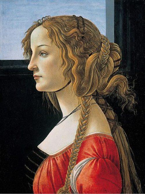 Cánones de Belleza. El Renacimiento. Simonetta Vespucci.