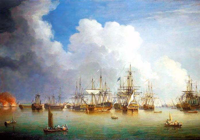 Captura de la flota española en La Habana