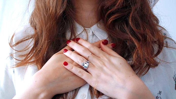 anillo de Claddagh de plata