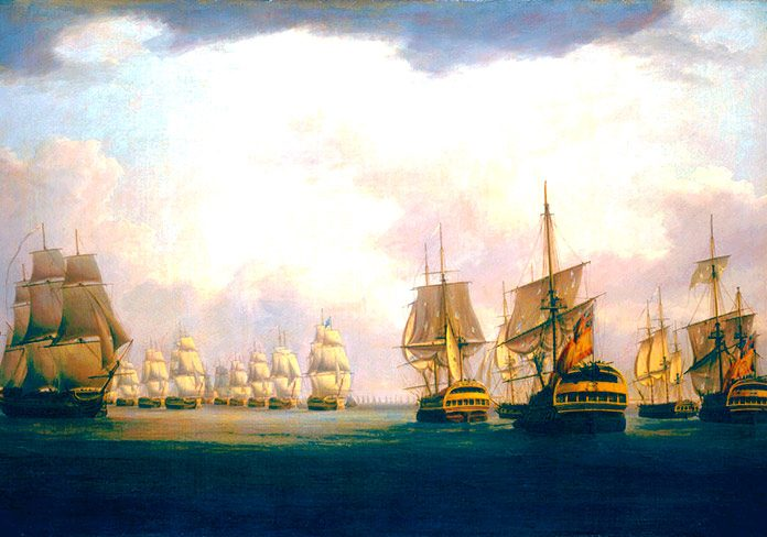 Combates navales. El cabo de Finistrerre