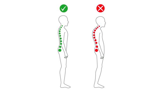 Cómo tener más energía: Postura correcta de pie