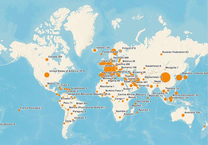 Covid-19 mapa mundial