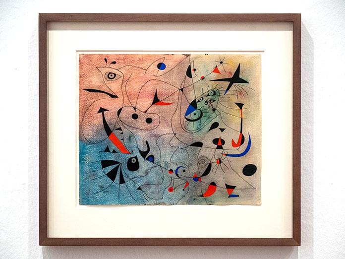 Cuadro La estrella matinal de Joan Miró