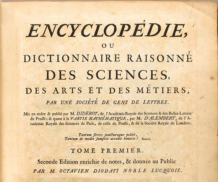 Prospectus y la primera enciclopedia de Diderot
