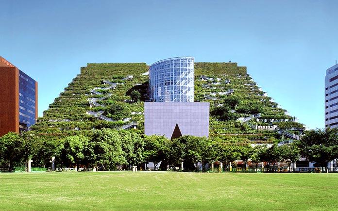 Edificios verdes - ACROS Fukuoka Prefectural International Hall