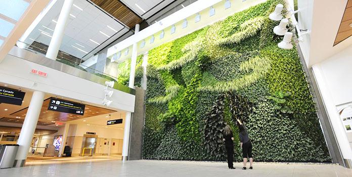 Edificios verdes - Aeropuerto Internacional de Edmonton