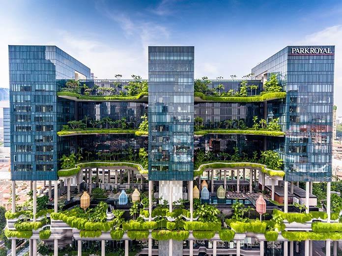 Edificios verdes - hotel Parkroyal Pickering