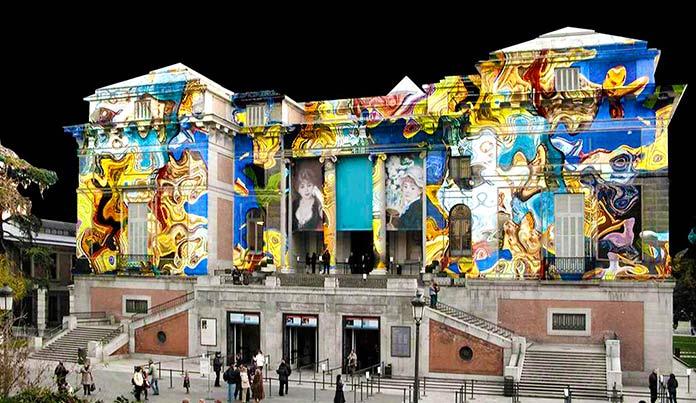 Fotomontaje en fachada - El Prado