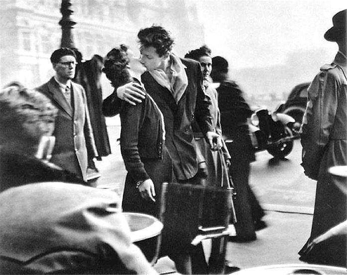 El beso, por Robert Doisneau