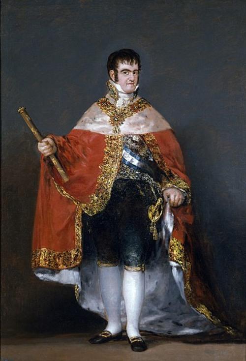 El siglo de las luces – Retrato de Fernando VII de España pintado por Goya.