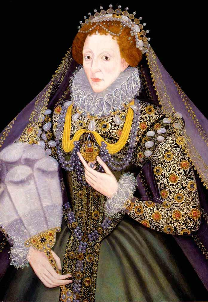 La reina Isabel I sosteniendo su pomander