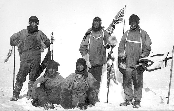 Equipo ingles expedicion Polo Sur